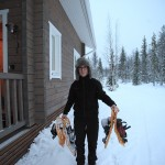 Picking up the snowshoes