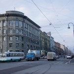 A typical street in St. Petersburg